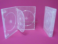 media packaging pp dvd case 4 disc clear dvd case