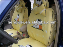 customized cute Snoopy cartoon car seat cover