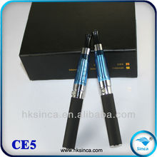 SINCATECH 2012 one year warranty 4.2voltage 650-1300mah multicolor atomizer 30% shipping CE5 wick for atomizer
