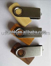 4gb wooden swilver usb flash disk, pen drive, Wooden spin USB drive