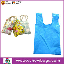 eco 190T nylon foldable shopping bag with ripstop nylon folding bag nylon foldable shopping bag factory promotion