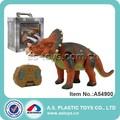 más reciente de plástico rc juguetes dinosaurio con luz y sonido