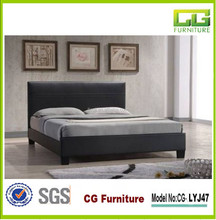 modern queen size platform bed made in china