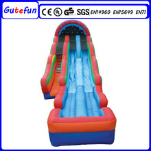 widely popular sports theme fire truck inflatable water slide