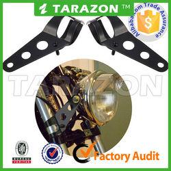 Motorcycle Custom Cafe Racer Bobber Chrome Headlight Brackets For 35-43mm Forks