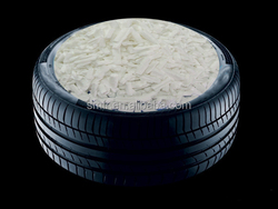 Easily dispersed granular silica for rubber industry / rubber tyre
