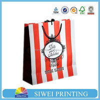hot sale gloss lamination birthday gift bag new design for Christmas