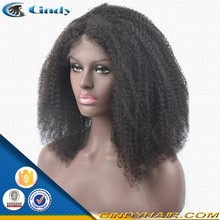 good quality short 14 inch afro mongolian kinky curly full lace wig cheap wigs
