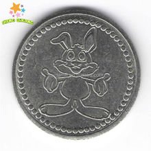 Plastic best painted token coin form ShengQiXiang