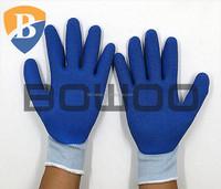 Open back coated glove latex working glove