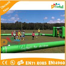 Fútbol campo de fútbol inflable, fútbol inflable maniquí de entrenamiento para los niños