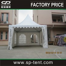 4x4m outdoor large Chinese aluminum frame pagoda camping tents for sale