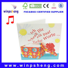 Fashionable Wholesale Make Musical Greeting Card