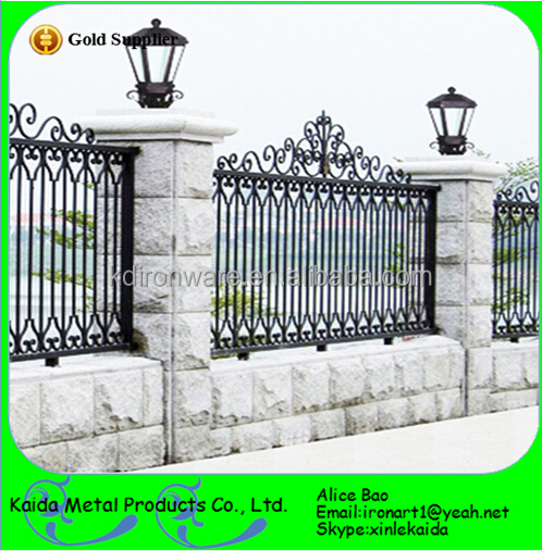 Customized Elegent Philippines Style Wrought Iron Fence