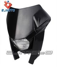 ZJMOTO Dirt bike Universal Headlight EC 515 FSR EC 300 Motorcycle Headlamp STREET BIKE