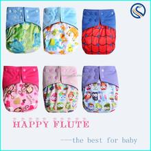 happy flute new AIO cloth diaper Wholesaler charcoal bamboo Baby cloth Diaper factory cloth Diaper