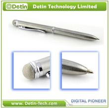 Aluminium material double tip stylus pen with soft high precision tip