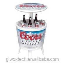 Plastic Outdoor Party Cooler Table Coors Light