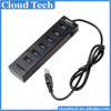 Factory hot model 6 ports android usb hub with 2 slot card reader
