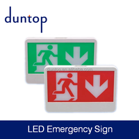 Green & Red color LED Exit Emergency sign for excit exit indicator