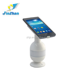 free swivel 3D flash mobile display holder with anti-theft alarm and charger and pull box retractor