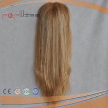 Best quality human Virgin Remy Grade Top selling style Blonde silk top women hair piece