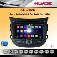 7 inch Quad Core Android 1 din car FM radio player for HB20 with high definition