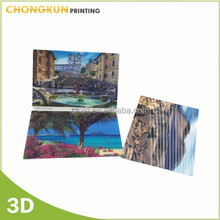 customized lenticular 3D postcard, lenticular printing