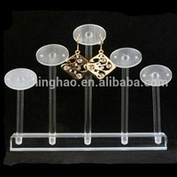 clear acrylic jewelry display, earring display stand