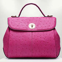 leather handbag patterns handbag cross body stylish ostrich leather tote bag GL302