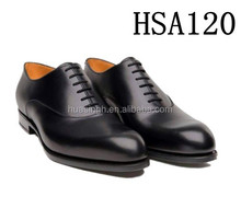 fancy design point toe men leather oxford dress shoes for military officer
