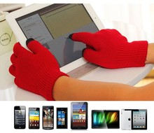 3 Fingers Cheap Winter Gloves/Adults AcrylicTouch Screen Sensitive Gloves