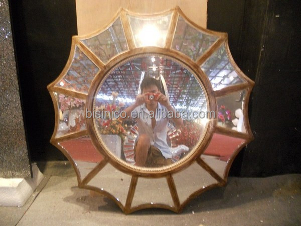 Miroir cadre soleil en forme de miroir conception pour la for Miroir western