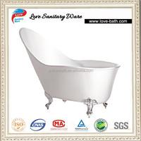 white clear freestanding acrylic portable walk in bathtub with leg
