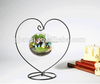 Beautiful Heart Shape Vase With Hanging Crystal Glass Vase For Weddings Or Home Decoration