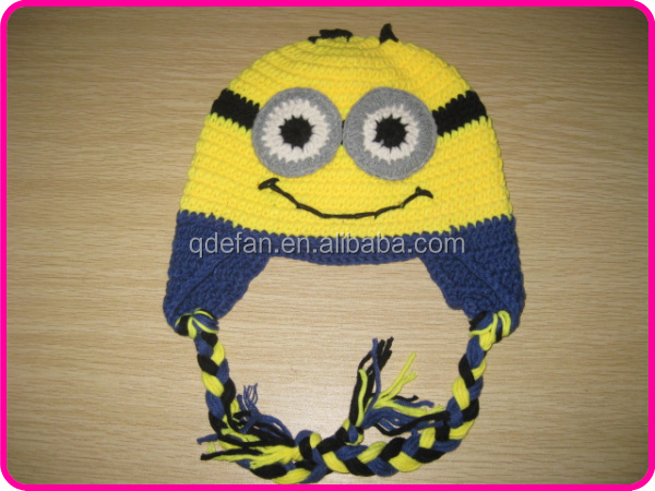Cartoon Characters Knitting Patterns : Despicable me yellow cartoon characters custom crocheted