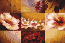 Wall mural decoration canvas bright flower painting by numbers