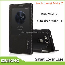 Cell Phone Asscessory Leather Smart Cover Case For Huawei Ascend