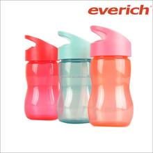 350ml BPA free Hot sale tritan plastic water bottle for kids with PP straw lid,kids water bottle plastic