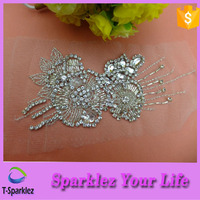 Sew on Products Rhinestones Appliques Patches Hot Sale