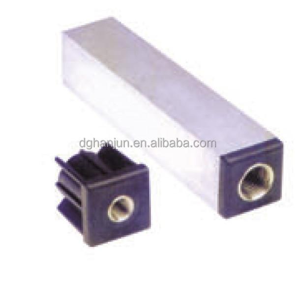 Mm square tube connectors h plastic