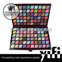 New Fashion! 120 sparkling color eyeshadow palette high quality oem eyeshdow