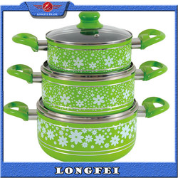 TOP QUALITY!! Aluminum Non-stick porcelain enamel cookware high quality