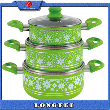 TOP QUALITY!! Aluminum Non-stick porcelain enamel cookware high quality