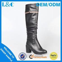 L & C H1583-Y735 rugas botas botas de várias cores botas de couro das mulheres