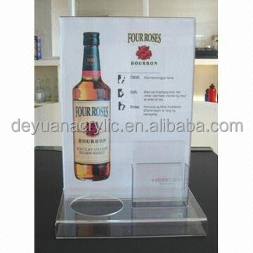 wholesale high quality clear a5 size acrylic menu holder/magnetic acrylic menu holder