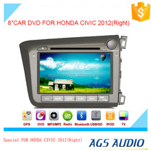 8 inch car dvd GPS navigation system for HONDA for CIVIC 2012(RIGHT) with radio bluetooth ipod ,baekup camera
