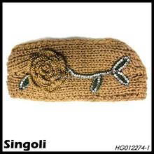 Fall&Winter 2014 Flower knitted crown headband