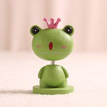 wild animal bobble head, plastic bobble head, frog bobble head