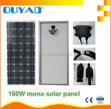 160w high quality mono solar panel manufacturer price